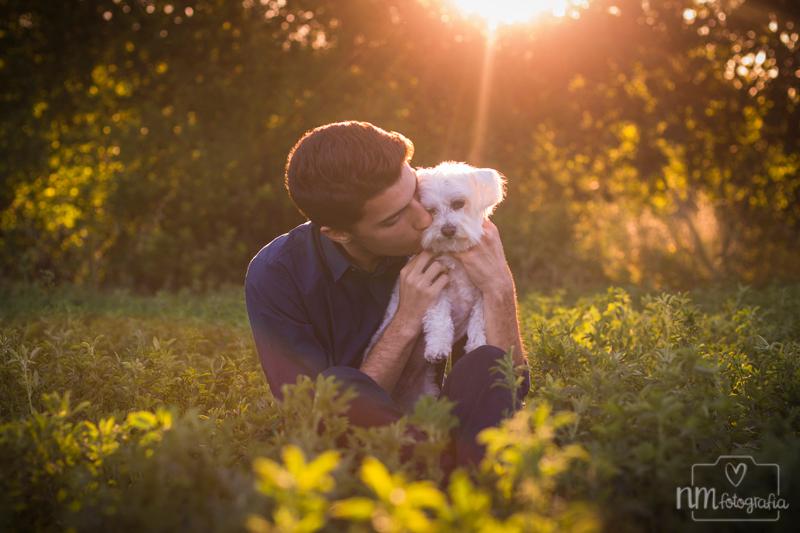sesión de fotos con perro en Barcelona