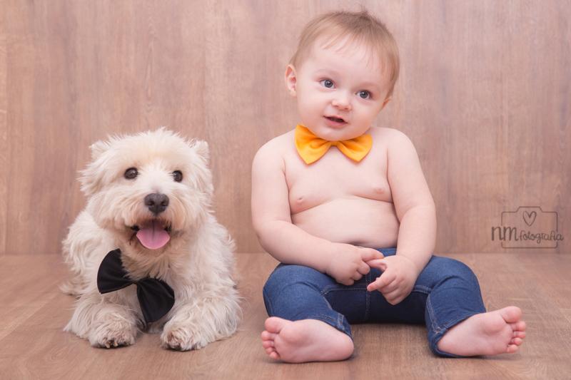 fotos de bebés con perro